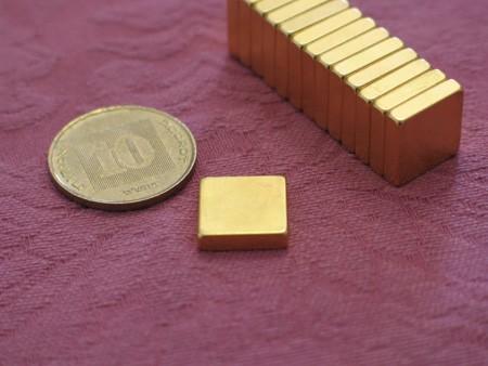 מגנט ניאודימיום בלוק - אורך 12.7 מ''מ, רוחב 12.7 מ''מ, גובה 3.175 מ''מ (NB-800)