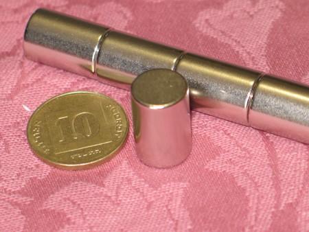 מגנט ניאודימיום גליל - קוטר 12 מ''מ, גובה 18 מ''מ (NC-1800)