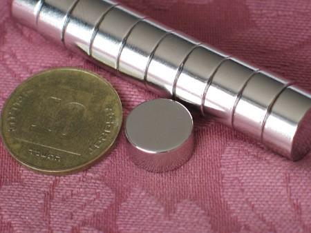 מגנט ניאודימיום דיסק - קוטר 12 מ''מ, גובה 6 מ''מ (ND-1600)