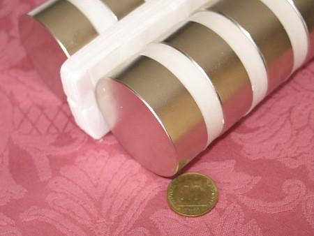 מגנט ניאודימיום דיסק - קוטר 50 מ''מ, גובה 18 מ''מ (ND-2600)