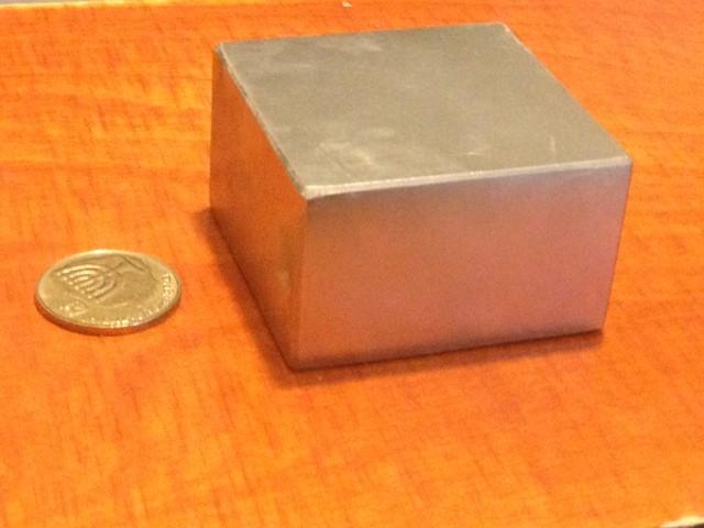 מגנט ניאודימיום בלוק - אורך 50 מ''מ, רוחב 50 מ''מ, גובה 30 מ''מ (NB-2600)