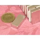 מגנט ניאודימיום בלוק - אורך 25 מ''מ, רוחב 12 מ''מ, גובה 6 מ''מ (NB-1400)