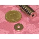 מגנט ניאודימיום טבעת - קוטר חיצוני 12 מ''מ, קוטר פנימי 3.5 מ''מ, גובה 3 מ''מ (NR-1000)