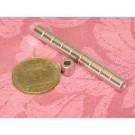 מגנט ניאודימיום טבעת - קוטר חיצוני 6 מ''מ, קוטר פנימי 3 מ''מ, גובה 6 מ''מ (NR-200)