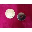מגנט ניאודימיום טבעת קונוס - קוטר חיצוני 18 מ''מ, קוטר פנימי עליון 6 מ''מ, קוטר פנימי תחתון 4 מ''מ, גובה 4 מ''מ (NRC-700)